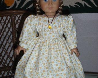 1800s Little House Pioneer Prairie Dress for American Girl Kirsten 18 inch doll