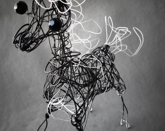 Metal Horse Wire Sculpture, Home Decor, Horse Art, Whimsical Table Decor,  Horse Office Decor, Horse Decor. Equestrian Horse, Horse Gift