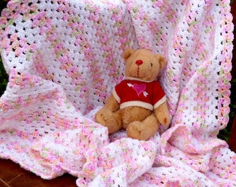 Candy Colors Baby Blanket - PDF Crochet Pattern - Instant Download