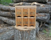 Tea Cube counter top tea storage cabinet (made when ordered)