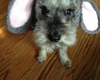 Bunny Dog Snood Knit Pattern