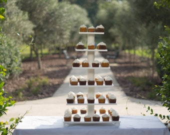 Cupcake Stand.  Elegant Cake Stand, Holds Over 100.