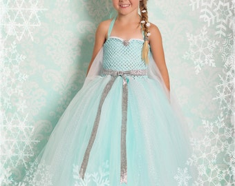 Queen Elsa Frozen Tutu Dress with Halloween Delivery