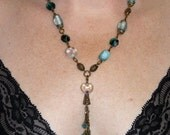 Aqua Beads and Brass Flow...