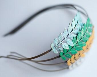 Aphrodite - Hand Painted - Metal Filigree Headband
