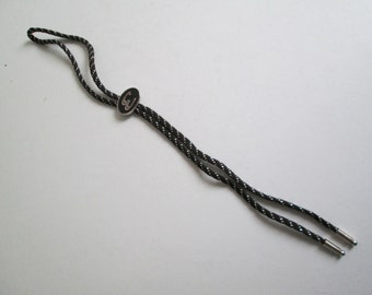 Vintage BOLO Tie.  Initial E.  Western, Rockabilly..  Made in USA