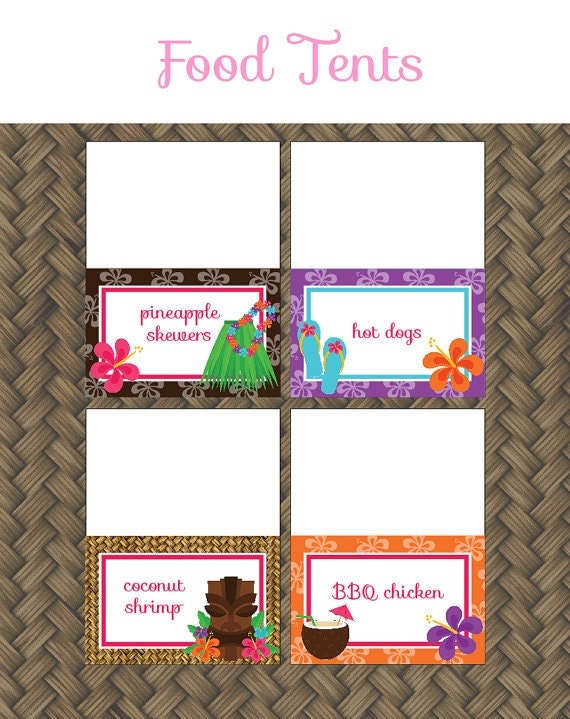 Party Food Labels Template Free