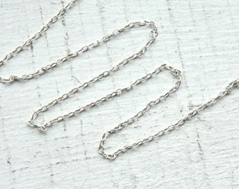 10 Feet Fine Sterling Silver Chain M/FZLD025 // 1x1.5mm