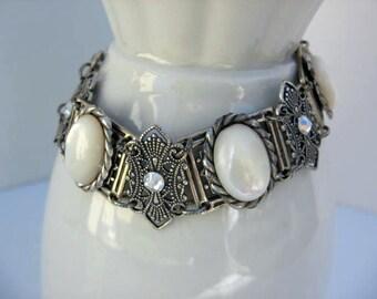 Vintage Inspired Victorian Bracelet - Mother of Pearl - No B21
