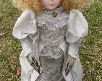 Nellie -- Rogue Taxidermy Art Doll
