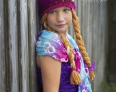 Anna frozen inspired hat- size 3-5 years, ready to ship