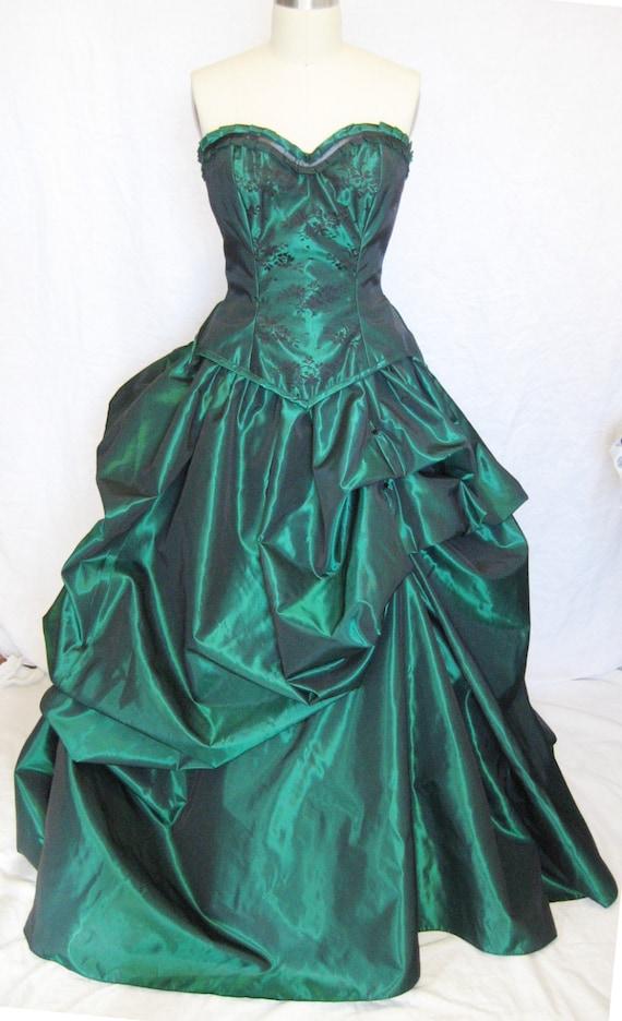 Bustle gown wedding dress custom made denver wedding dress christmas