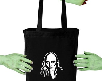 Voodoo Sugar Riff Raff Rocky Horror Picture Show Black Canvas Tote Bag