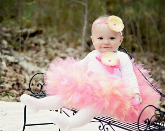 Birthday Tutu | 1st Birthday Tutu Dress | Baby Birthday Tutu | Cake Smash Tutu | Tutu Skirt | Pink and Yellow Tutu | Pink Tutu