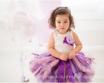 Birthday Tutu   Purple  Birthday Tutu Dress   Baby Birthday Tutu   Cake Smash Tutu   Tutu Skirt   Lavender Birthday Tutu
