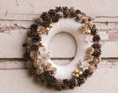 Christmas wreath, Winter wreath, Pine cone wreath,  Rustic Wreath, Christmas winter wreath, Natural wreath, Holiday wreath