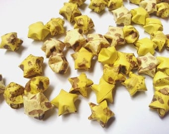 50pcs of Origami Lucky Stars - Shades of yellow and prints