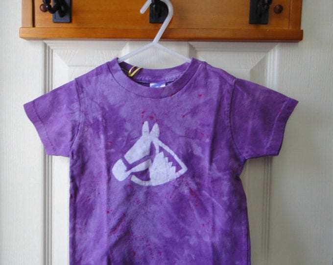 Purple Horse Kids Shirt, Kids Horse Shirt, Girls Horse Shirt, Equestrian Shirt, Horseback Riding Shirt (2T) SALE