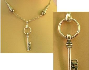 Silver Dream Key Pendant Necklace Jewelry Handmade NEW Accessories Fashion