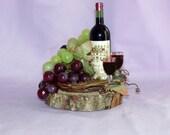 Vinyard Wine Wedding Cake Topper