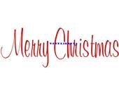 Merry Christmas - Door Wall Decal - Vinyl Wall Decal, Wall Decor, Wall Sticker, Christmas Door Decal, Christmas Decor, Holiday Decal