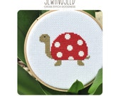 Polka dot Turtle Cross Stitch Pattern Instant Download
