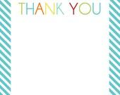 Transportation Thank you cards - Baby Boy Shower - Boys Transportation Party - Digital File