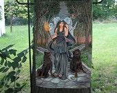 Hecate, Goddess of the Crossroads Garden Flag
