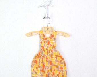 Vintage Baby Romper * Mid Century Onesie * 50s Infant Playsuit * 3 months