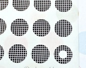 Planner Stickers - Black Criss Cross Trendy Page Dots - Circle Reinforcement Labels, Stickers, Hole Reinforcements