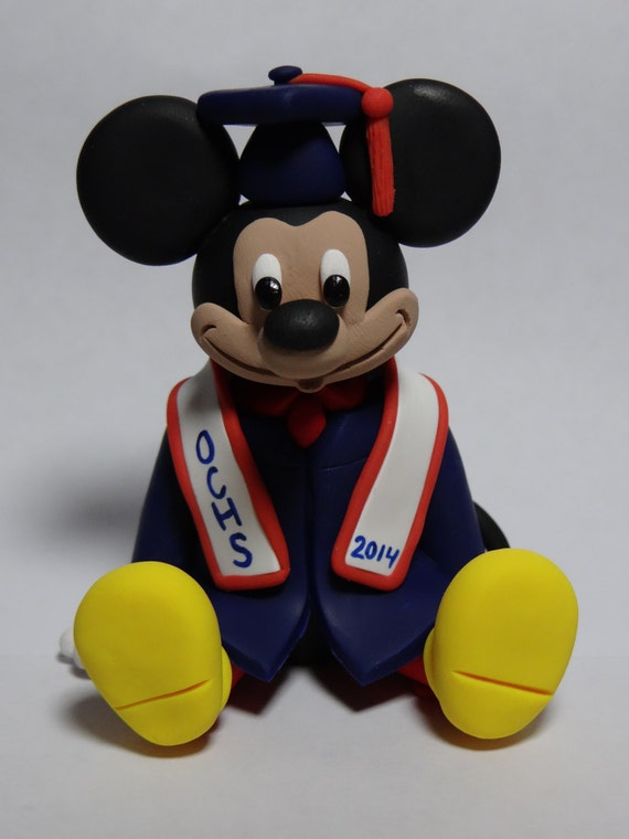Items Similar To Custom Mickey Mouse Graduation Cake