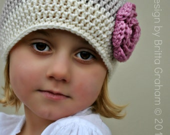 Basic Beanie Pattern - Unisex Crochet Hat Pattern uses DK weight (US Light/3, AUS 8ply) yarn No.305