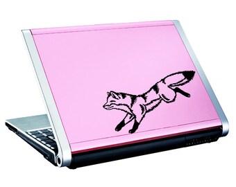 "Fox Decal / Running Fox Window Sticker / Jumping Fox Laptop Decal / Leaping Fox Car Sticker / Running Fox Sticker / 4"" h x 8""w / #677"