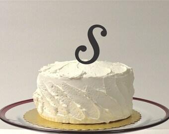 MONOGRAM INITIAL S- Wedding Cake Topper  Personalized Monogrammed Wedding Cake Topper Custom Cake Topper Any Letter
