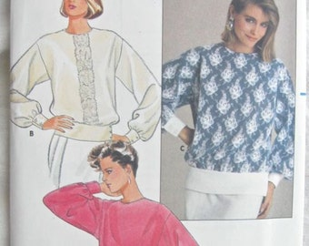 Butterick 3130 Womens Pullover Blouse Vintage Sewing Pattern Bust 36