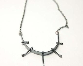 Sterling Silver Talisman Necklace No. 1 - Shiny Silver (not oxidized)