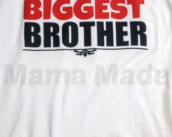 Biggest Brother Shirt or Bodysuit Black And Red Biggest Brother Shirt, biggest brother, sibling shirts, brother shirts, big brother shirt