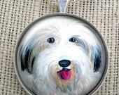English Sheepdog Necklace  ~ February Birthday ~ Trending Items ~ Gifts Under 10 ~ Dog Necklace