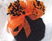CINCINNATI...BENGALS... Baby Girl or Boy Version...3 Sizes Available ..Black & Orange...Pom Pom Hat...Adorable Hat..Newborn to 9 month