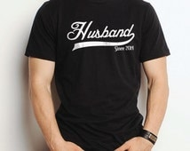 Husband Gift Husband Since 2014 Mens T shirt Valentine's Day Gift Wedding Gift Tshirt Dad Gift Cool Shirt Father's Day Gift