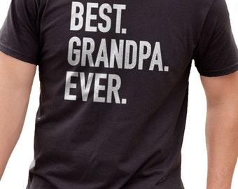 Grandpa Gift Best Grandpa Ever Mens t shirt Fathers Day Gift Husband Gift Fathers Day Shirt Funny Tshirt Dad Gift