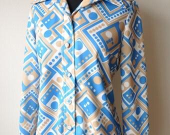 SALE Vintage Women's Groovy Shirt Jacket Size M/L