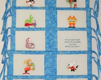 Alice in Wonderland Crib Bumper Pads - Payment Plan available - Matching Crib Quilt and Bedding Available