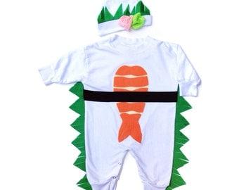 Warm Sushi Costume, Warm Kids Costume, Shrimp Sushi Baby Halloween, Toddler Halloween, Funny Costume