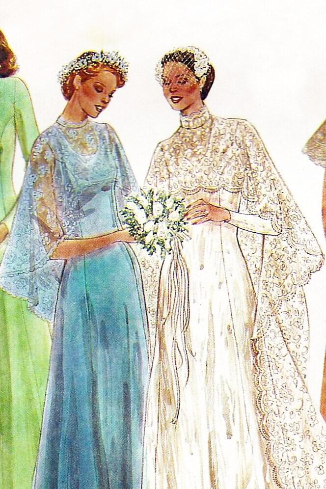 1970s wedding dress pattern mccalls 6895 70s wedding for Wedding dress patterns mccalls