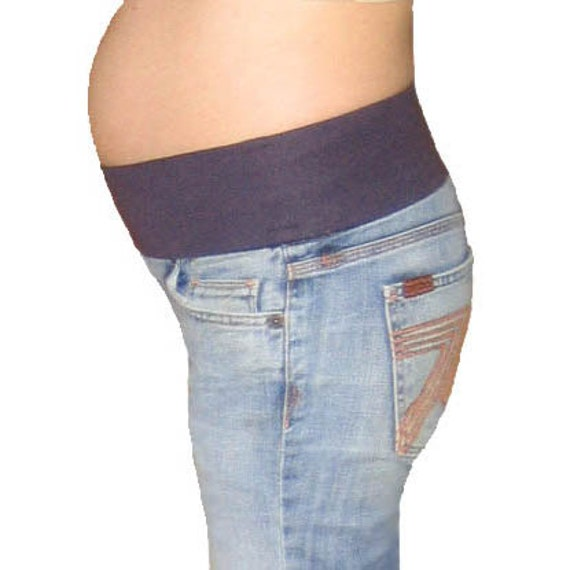 Maternity Jeans conversions, FULL DEMI BAND, send your own jeans, maternity shorts skirts slacks uniforms, underbelly maternity band