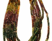 """Tunduru Sapphire Beads AAA Grade Hand Cut Micro Faceted 3.5mm Roundell Full 16"""" Stringing Necklace Beadwork Multi Color Jewelry Stringing"""
