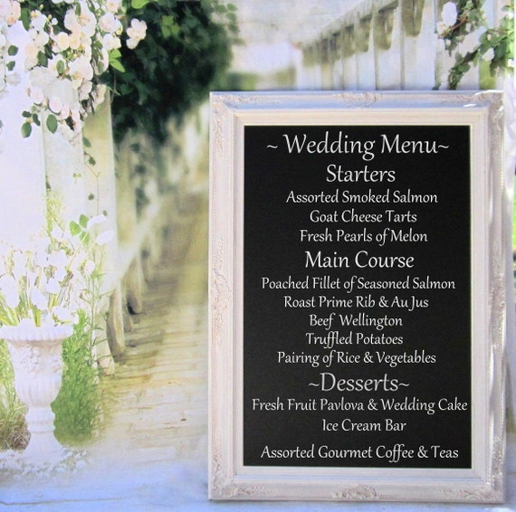 chalkboard for wedding menu board with easel magnetic standing