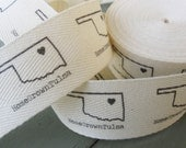 Twill Fabric Labels, one-inch ribbon, spool - uncut, natural or white