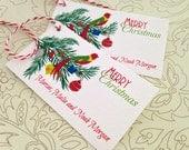 Personalized Christmas Gift Tags, Holiday Tags, Christmas Tags, Set of 20